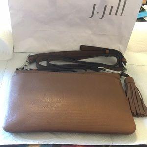 J.Jill Cognac Leather Convertible  Crossbody